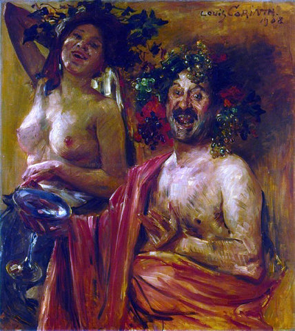 Lovis Corinth Bacchantenpaar - Hand Painted Oil Painting