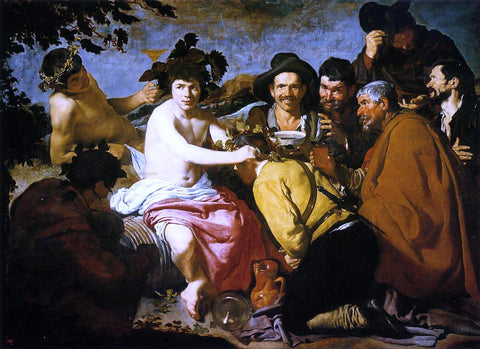 "Diego Velazquez Bacchus aka ""The Drunken"" - Hand Painted Oil Painting"