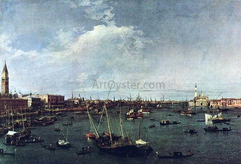 Canaletto Bacino di San Marco - Hand Painted Oil Painting
