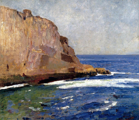 Emil Carlsen Bald Head Cliff, York, Maine - Hand Painted Oil Painting