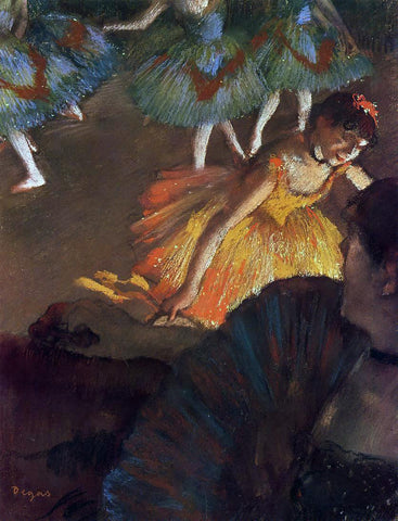 Edgar Degas Ballerina and Lady with a Fan - Hand Painted Oil Painting