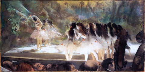 Edgar Degas Ballet at the Paris Opers - Hand Painted Oil Painting