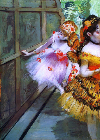 Edgar Degas Ballet Dancers in Butterfly Costumes (detail) - Hand Painted Oil Painting