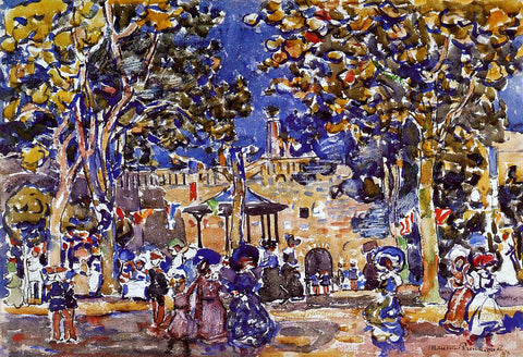 Maurice Prendergast Band Concert - Hand Painted Oil Painting