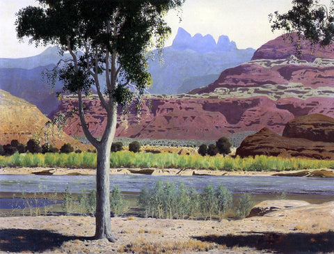 James Swinnerton Bank of the Colorado River - Hand Painted Oil Painting