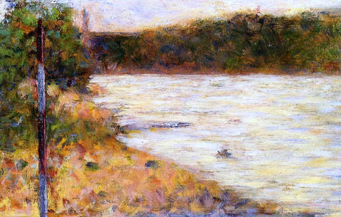Georges Seurat Banks of a River - Hand Painted Oil Painting