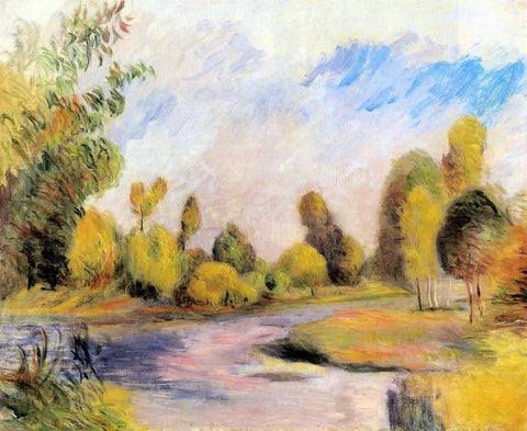 Pierre Auguste Renoir Banks of a River - Hand Painted Oil Painting
