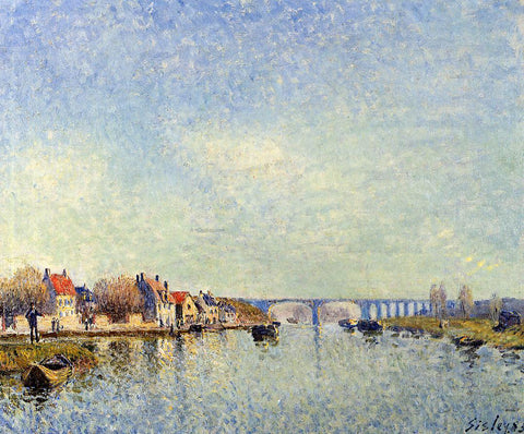 Alfred Sisley Banks of the Loing at Saint-Mammes - Hand Painted Oil Painting