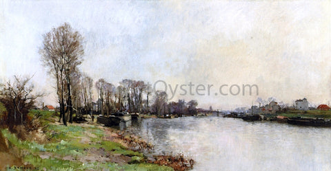 Pierre-Emmanuel Damoye Banks of the River - Hand Painted Oil Painting