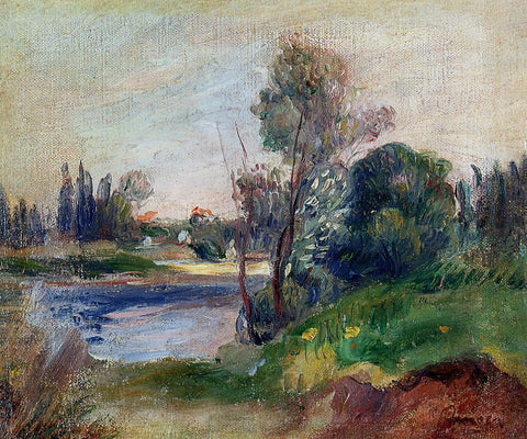 Pierre Auguste Renoir Banks of the River - Hand Painted Oil Painting
