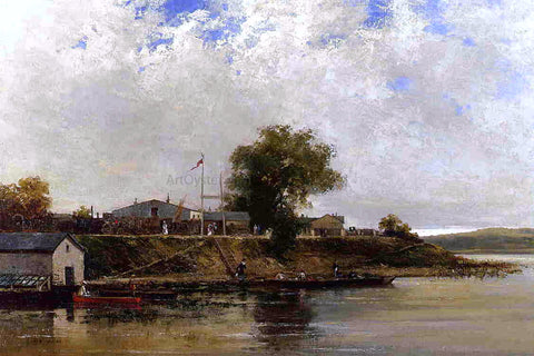 Luigi Loir Banks of the Seine - Hand Painted Oil Painting