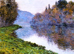 Claude Oscar Monet Banks of the Seine at Jenfosse: Clear Weather - Hand Painted Oil Painting