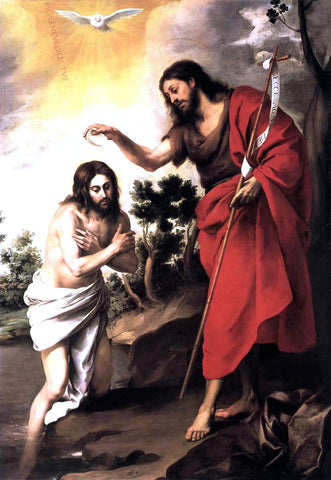 Bartolome Esteban Murillo Baptism of Christ - Hand Painted Oil Painting