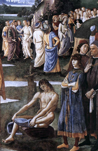 Pietro Perugino Baptism of Christ [detail] - Hand Painted Oil Painting