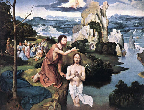 Joachim Patenier Baptism of Christ - Hand Painted Oil Painting