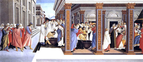Sandro Botticelli Baptism of St Zenobius and His Appointment as Bishop - Hand Painted Oil Painting