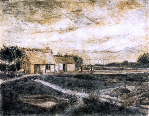 Vincent Van Gogh The Barn with Moss-Covered Roof - Hand Painted Oil Painting