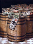 Victor Dubreuil Barrels of Money - Hand Painted Oil Painting