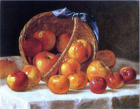 John F Francis Basket of Apples - Hand Painted Oil Painting