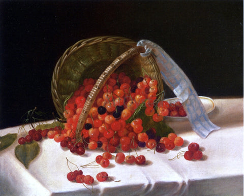 John F Francis Basket of Cherries - Hand Painted Oil Painting