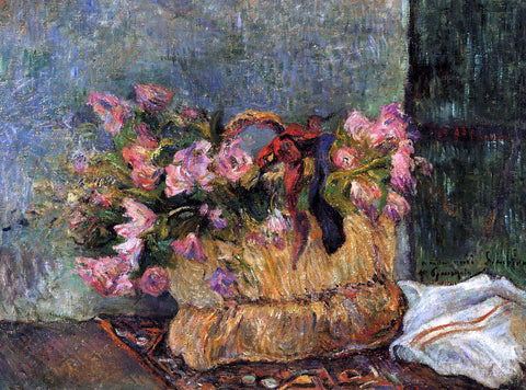 Paul Gauguin Basket of Flowers - Hand Painted Oil Painting
