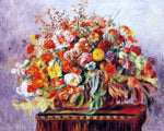 Pierre Auguste Renoir Basket of Flowers - Hand Painted Oil Painting