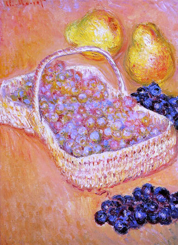 Claude Oscar Monet Basket of Grapes, Quinces and Pears - Hand Painted Oil Painting