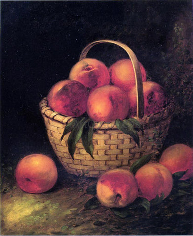 Thomas Addison Richards Basket of Peaches - Hand Painted Oil Painting