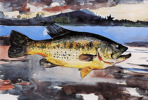 Winslow Homer Bass - Hand Painted Oil Painting