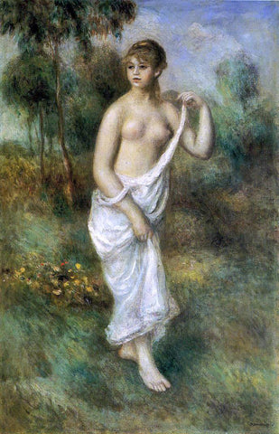 Pierre Auguste Renoir Bather - Hand Painted Oil Painting