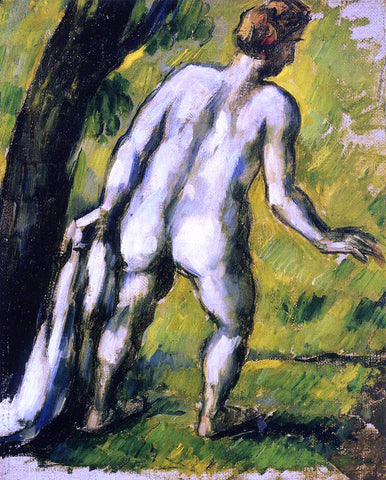 Paul Cezanne Bather from the Back - Hand Painted Oil Painting