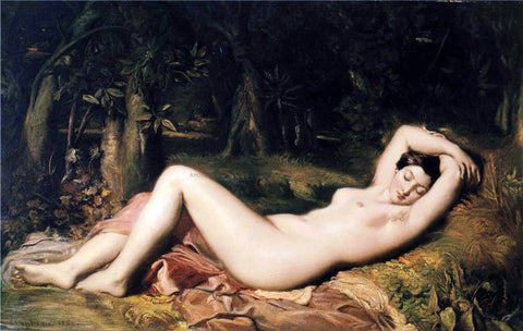 Theodore Chasseriau A Bather Sleeping Near a Spring - Hand Painted Oil Painting