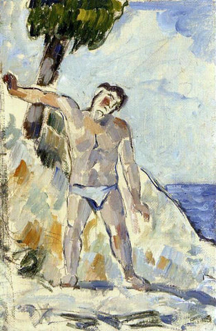 Paul Cezanne Bather with Arms Spread - Hand Painted Oil Painting