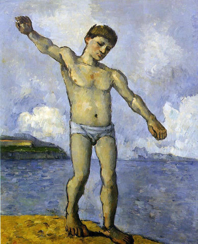 Paul Cezanne Bather with Outstreched Arms - Hand Painted Oil Painting