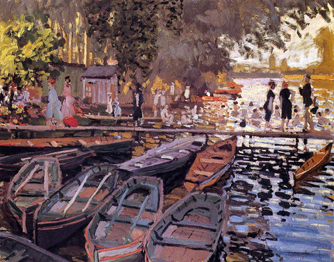 Claude Oscar Monet Bathers at La Grenouillere - Hand Painted Oil Painting