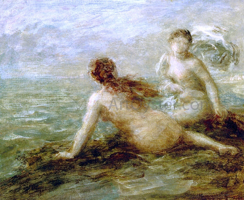 Henri Fantin-Latour Bathers by the Sea - Hand Painted Oil Painting