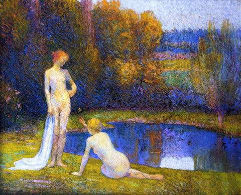 Hippolyte Petitjean Bathers - Hand Painted Oil Painting