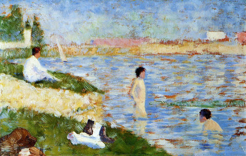 Georges Seurat Bathers in the Water - Hand Painted Oil Painting