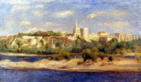 Pierre Auguste Renoir Bathers on the Banks of the Thone in Avignon - Hand Painted Oil Painting