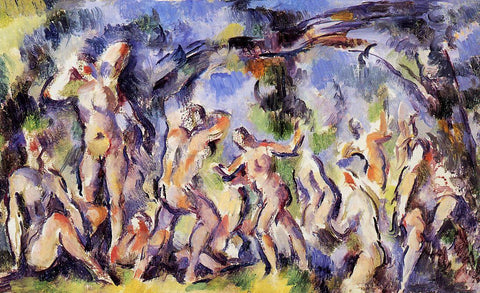 Paul Cezanne Bathers (study) - Hand Painted Oil Painting