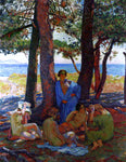 Theo Van Rysselberghe Bathers Under the Pines by the Sea - Hand Painted Oil Painting