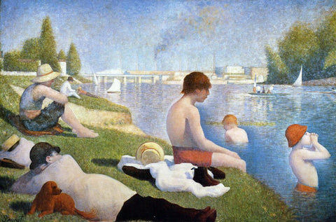 Georges Seurat Bathing at Asnieres - Hand Painted Oil Painting