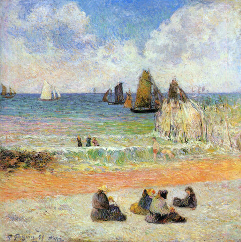 Paul Gauguin Bathing, Dieppe - Hand Painted Oil Painting