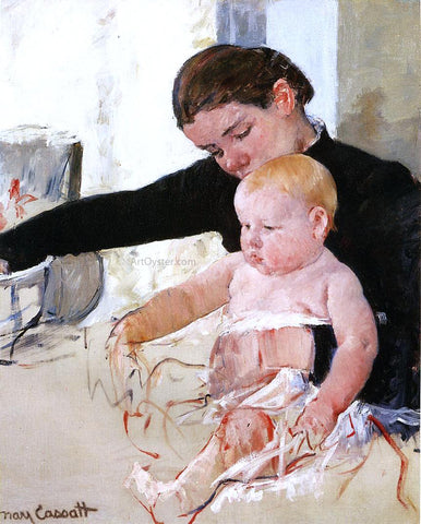 Mary Cassatt Bathing the Young Heir - Hand Painted Oil Painting