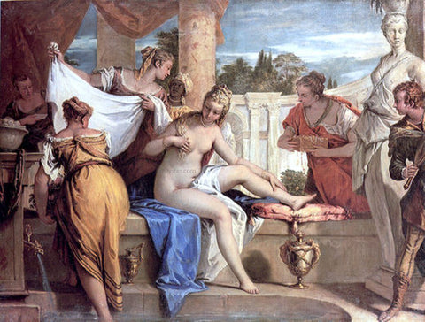 Sebastiano Ricci Bathsheba in her Bath - Hand Painted Oil Painting