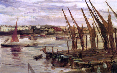 James McNeill Whistler Battersea Reach - Hand Painted Oil Painting