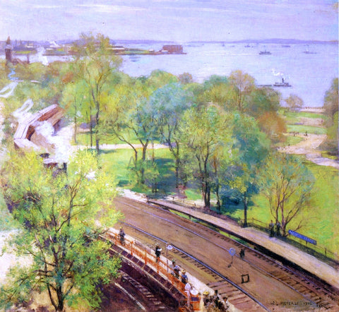 Willard Leroy Metcalf Battery Park - Spring - Hand Painted Oil Painting