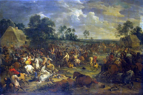 Adam Frans Van Der Meulen Battle - Hand Painted Oil Painting