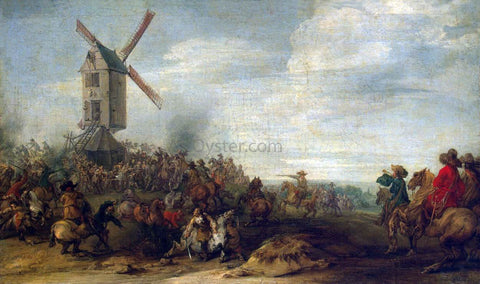 Joseph Parrocel Battle by the Windmill - Hand Painted Oil Painting