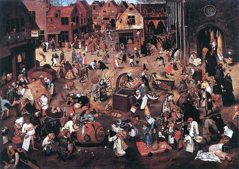 The Younger Pieter Brueghel Battle of Carnival and Lent - Hand Painted Oil Painting